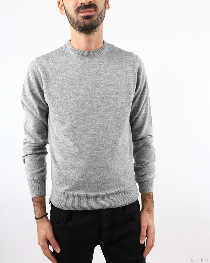 Pull en laine et cachemire gris Fausto Reali Vannucci