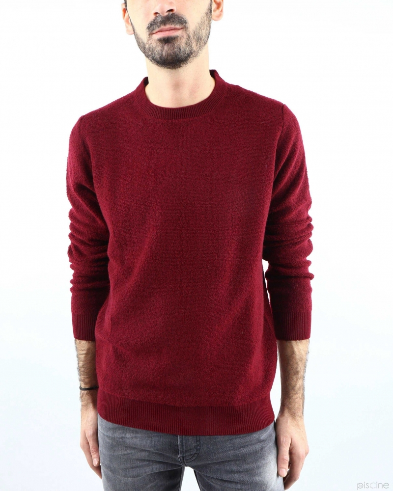 Pull col rond bordeaux Panicale