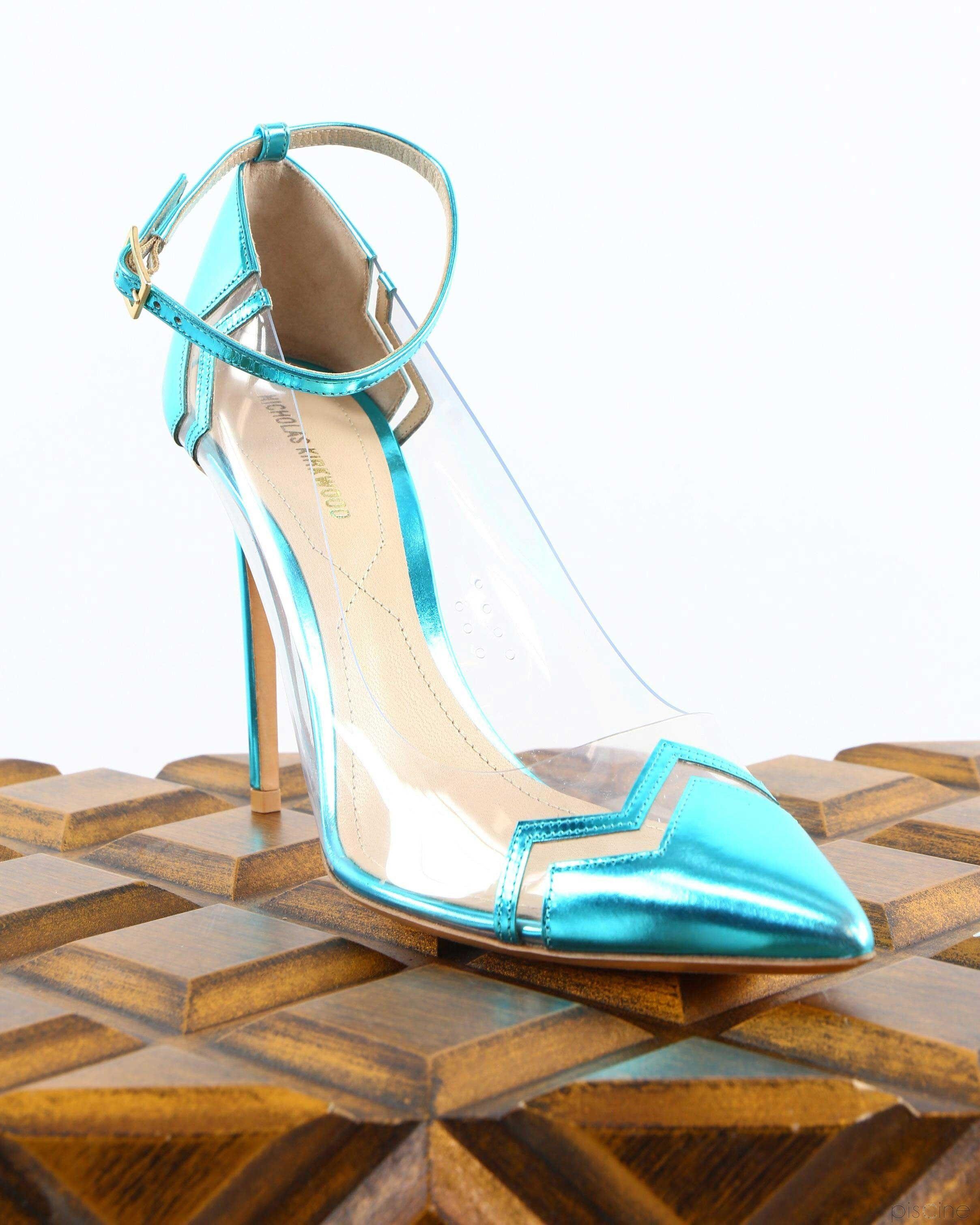 Sandales à talons bleu Nicholas Kirkwood