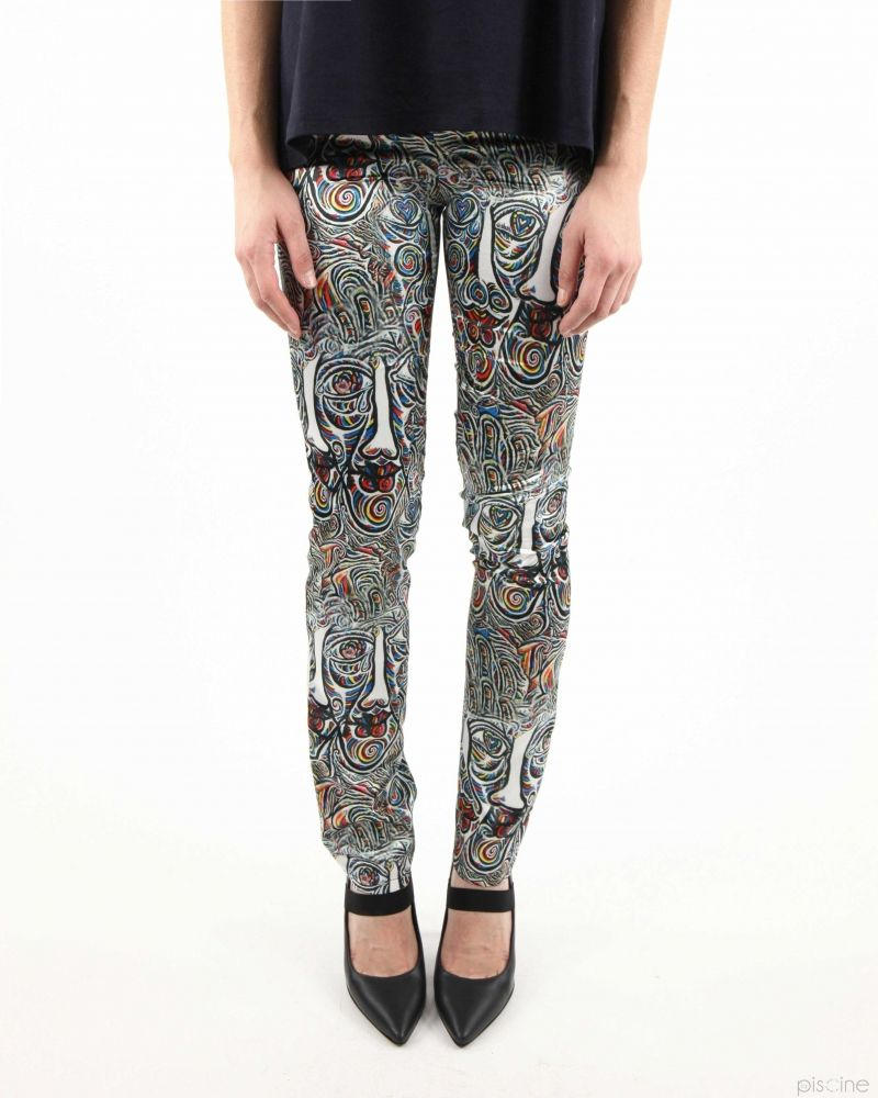 Pantalon fluide multicolor Virginia Bizzi