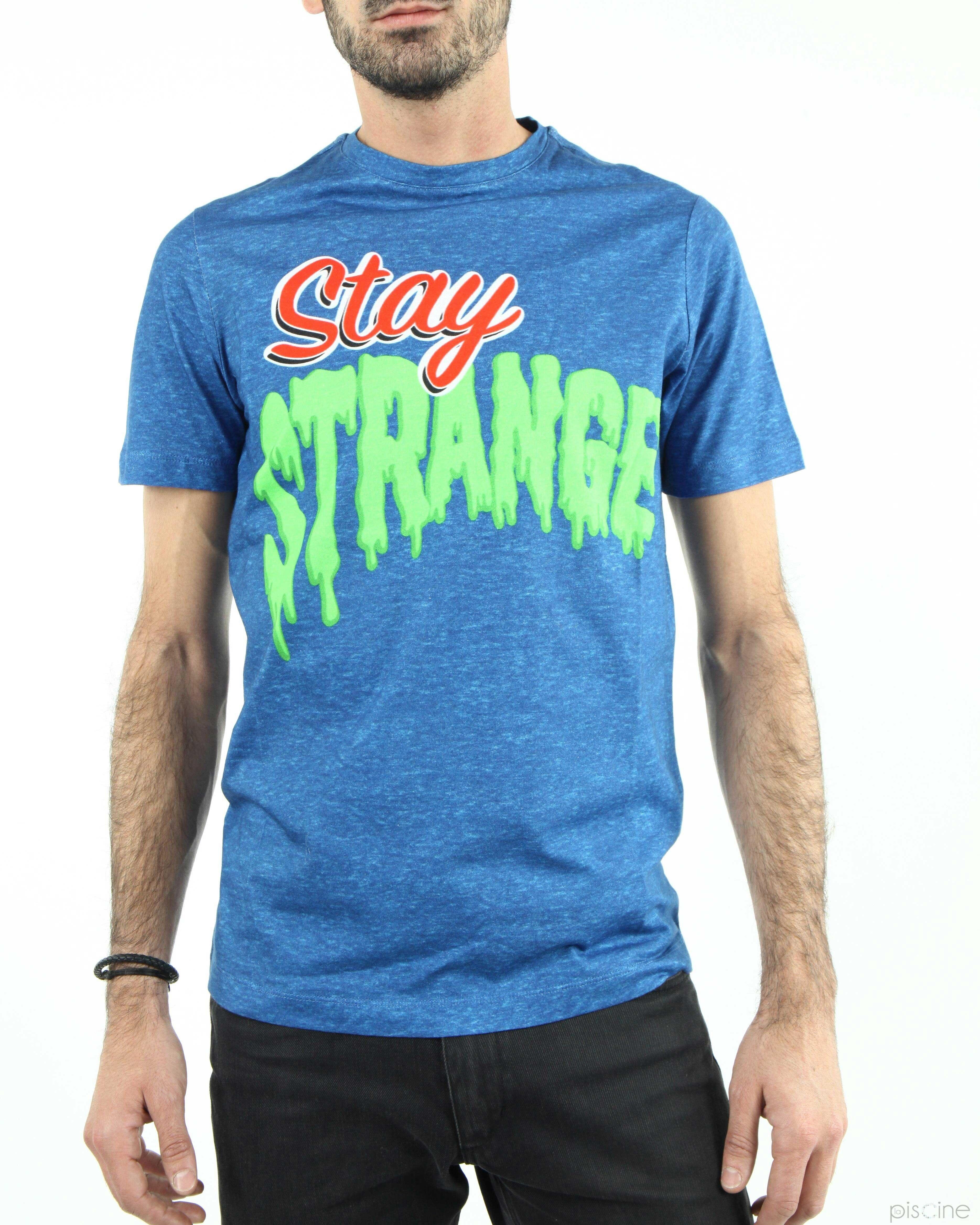 """T-Shirt bleu """"Stay Strange"""" Frankie Morello"""