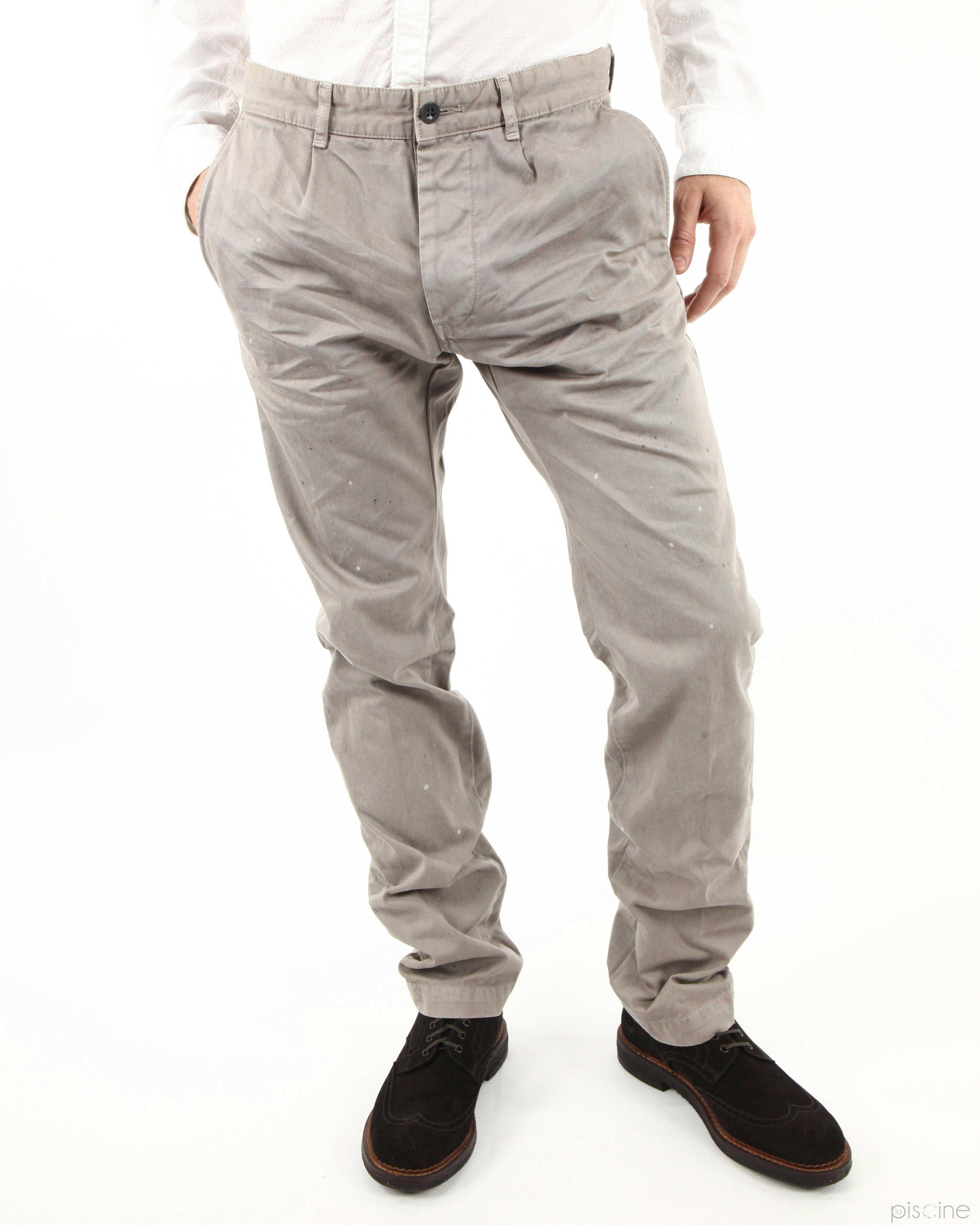 Pantalon taupe Mauro Grifoni