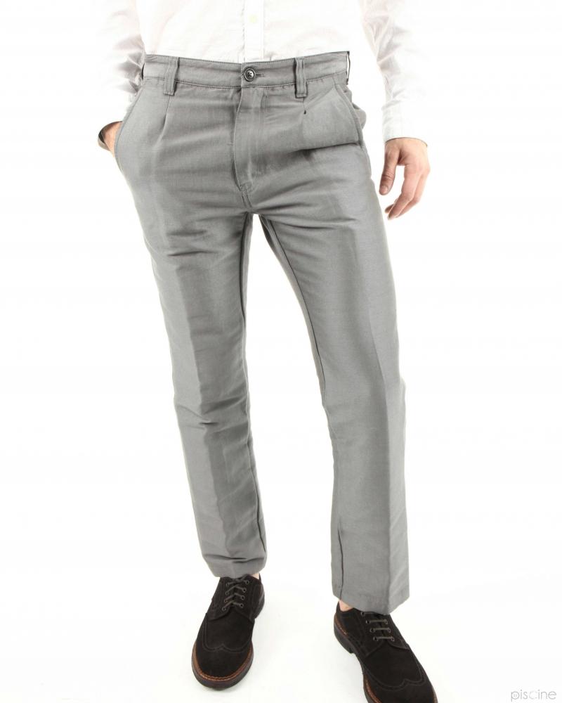 Pantalon gris Mauro Grifoni