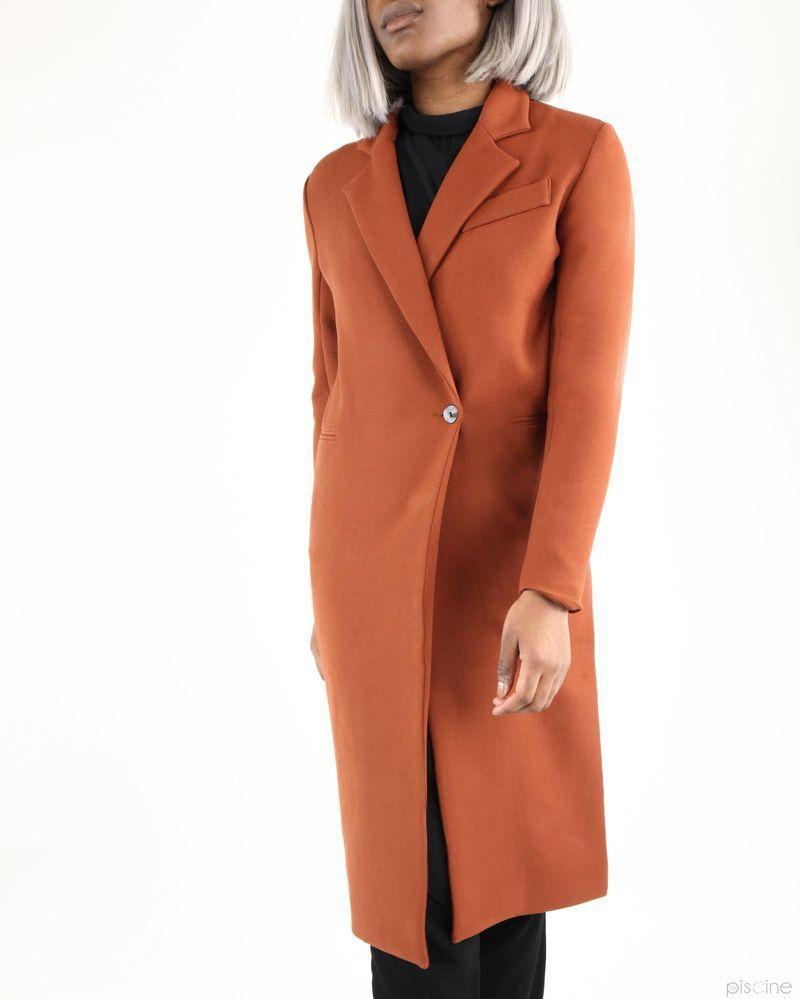 Manteau marron long élégant Liis Japan
