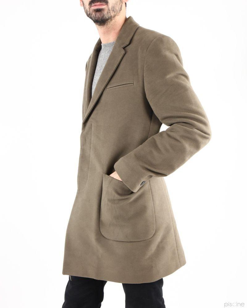 Manteau taupe élégant en suedine Mauro Grifoni