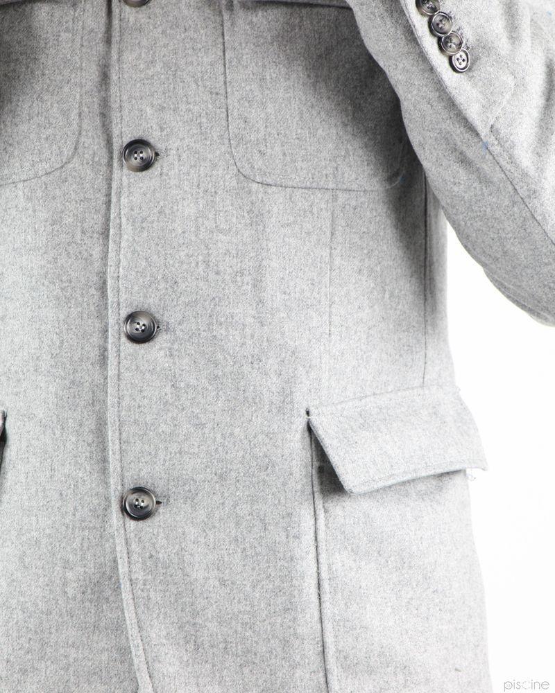 Manteau gris style officier Aquarama
