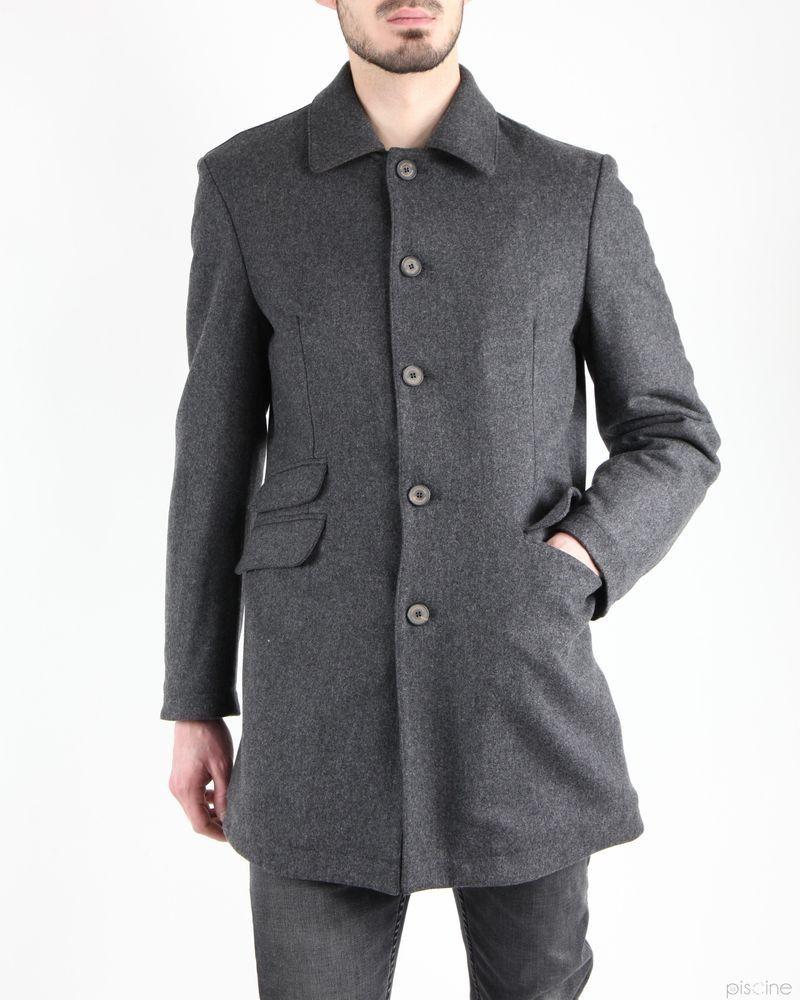 Manteau gris habillé en laine Aquarama
