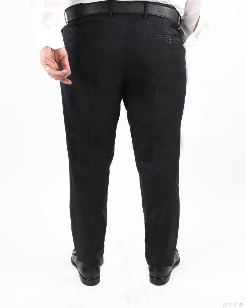 Pantalon noir en laine mélangée Lords & Fools