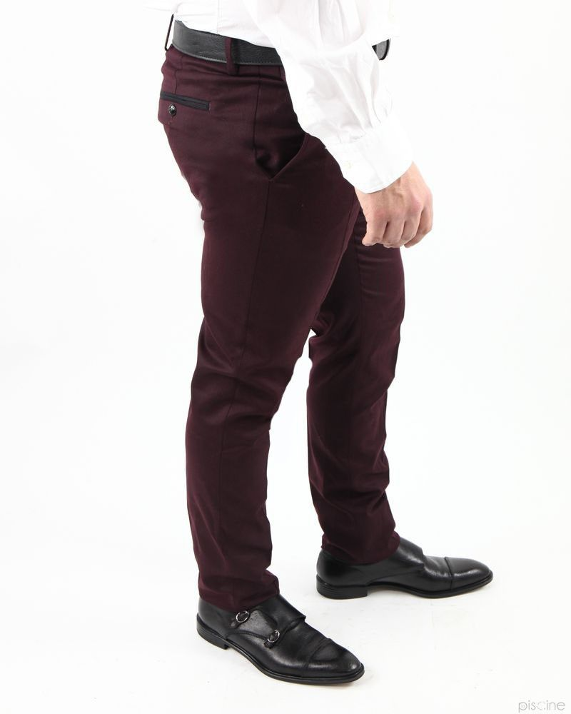 Pantalon bordeaux en laine Lords & Fools