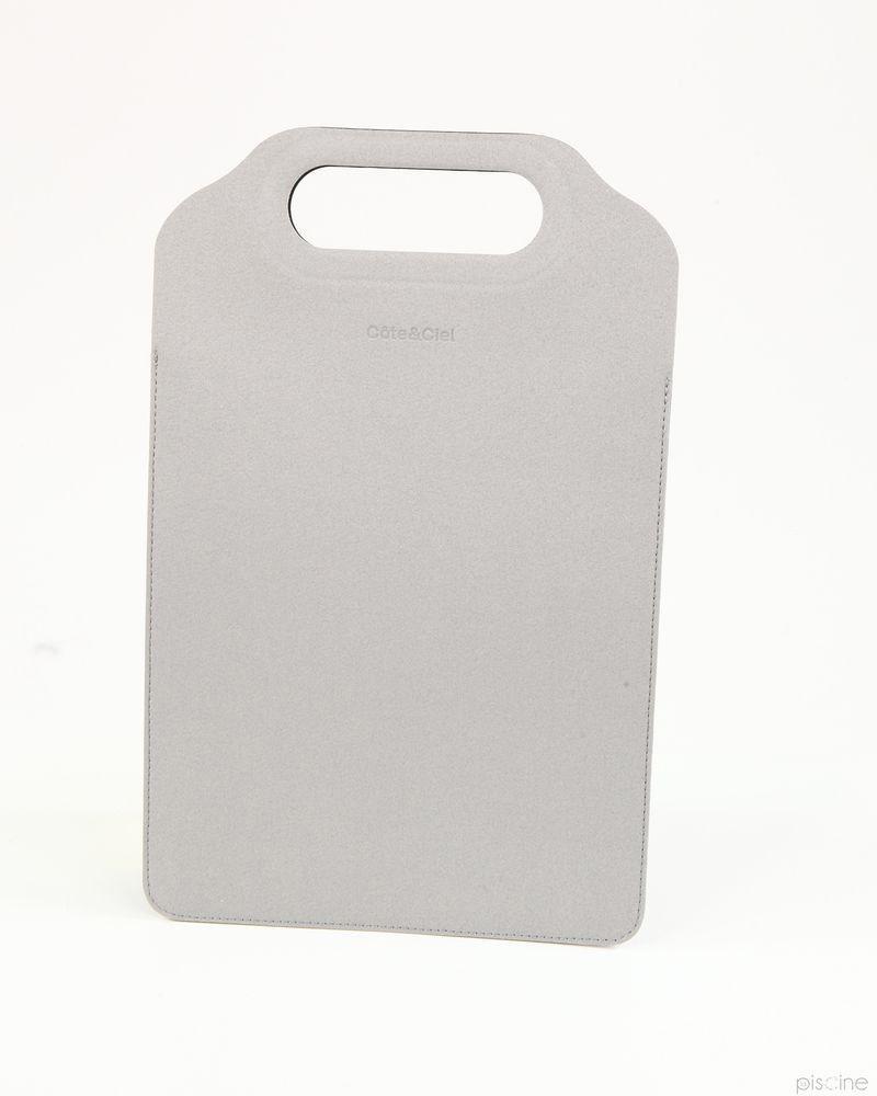 Pochette grise pour Ipad Cote et Ciel
