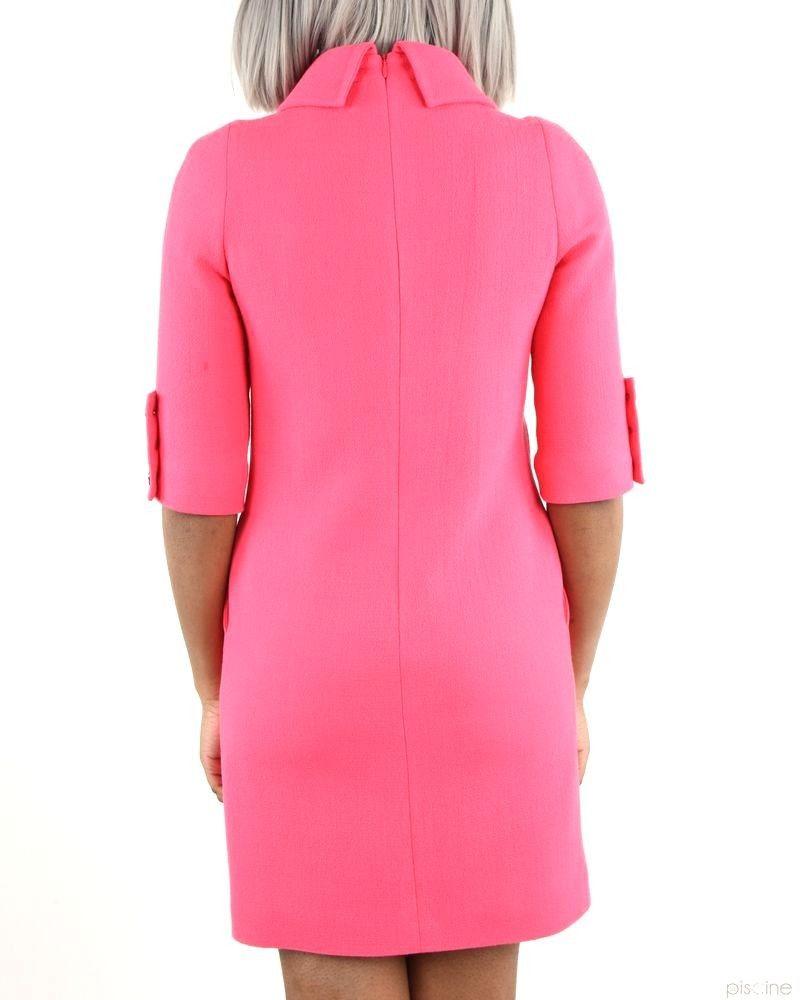 022de1f2176 Robe rose élégante à col roulé châle Edward Achour pas cher - Outle...
