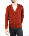 Cardigan orange en laine Woolgroup