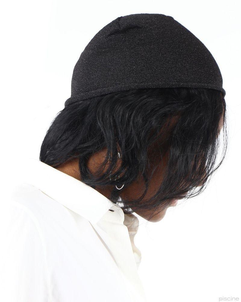 Bonnet noir brillant Frankie Morello