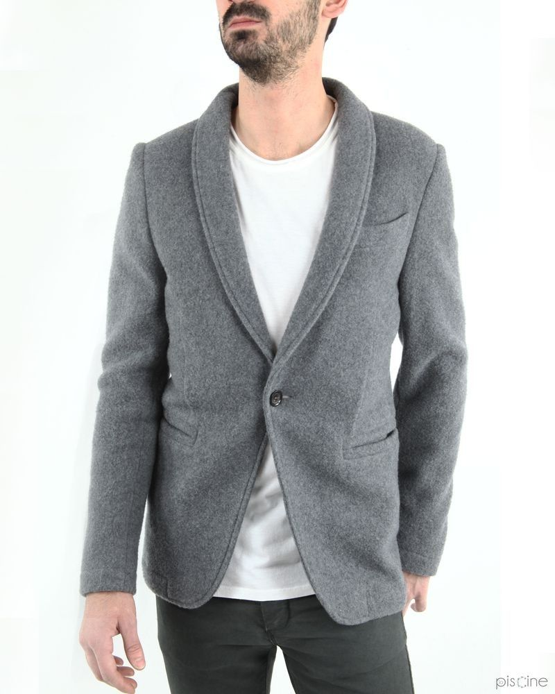 La veste grise en laine et cachemire Manostorti