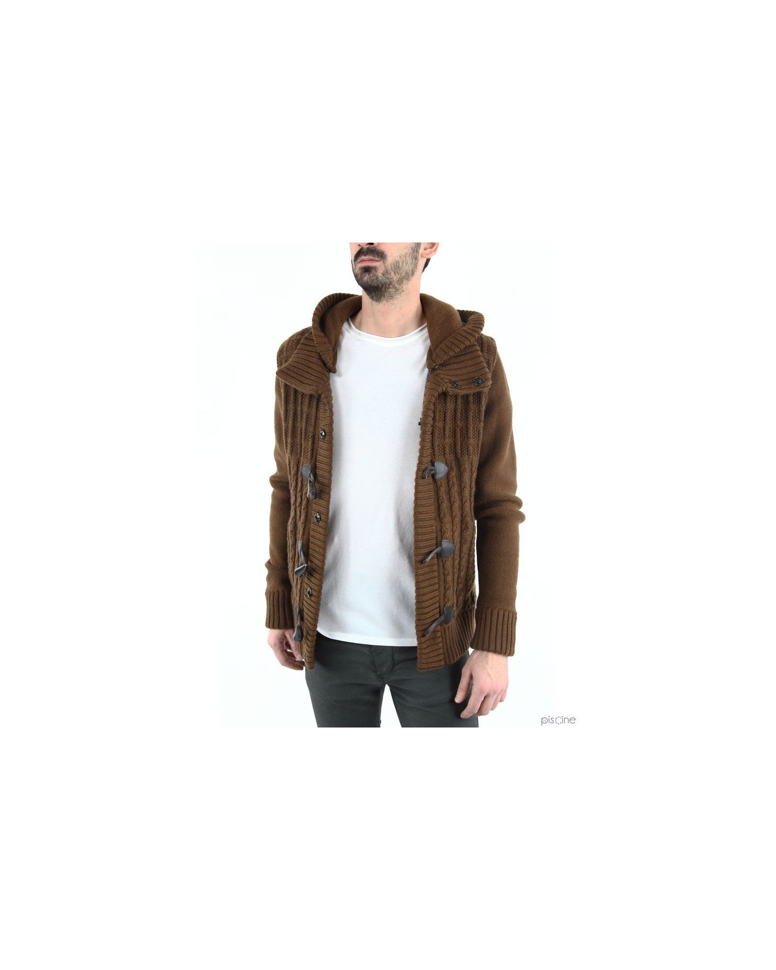 Pardessus marron style duffle coat  Manostorti