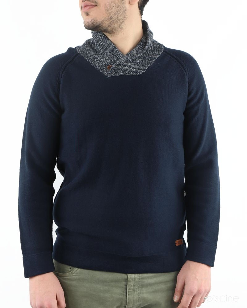 Pull bleu en coton Blue Industry