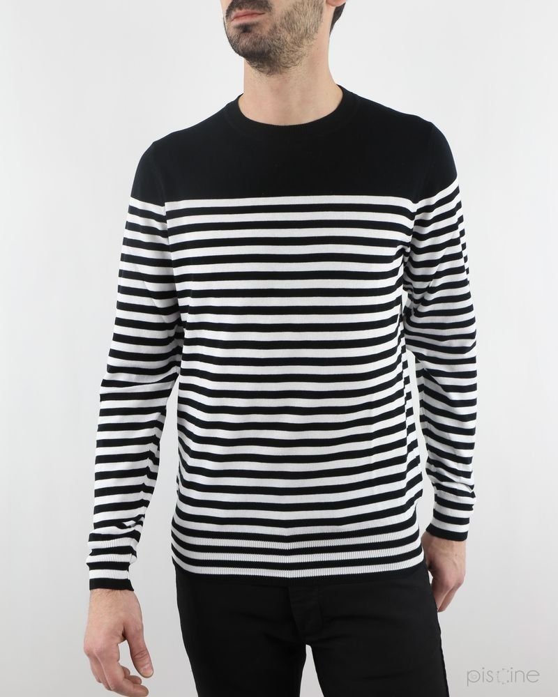 Pull marinière noir FP Collection