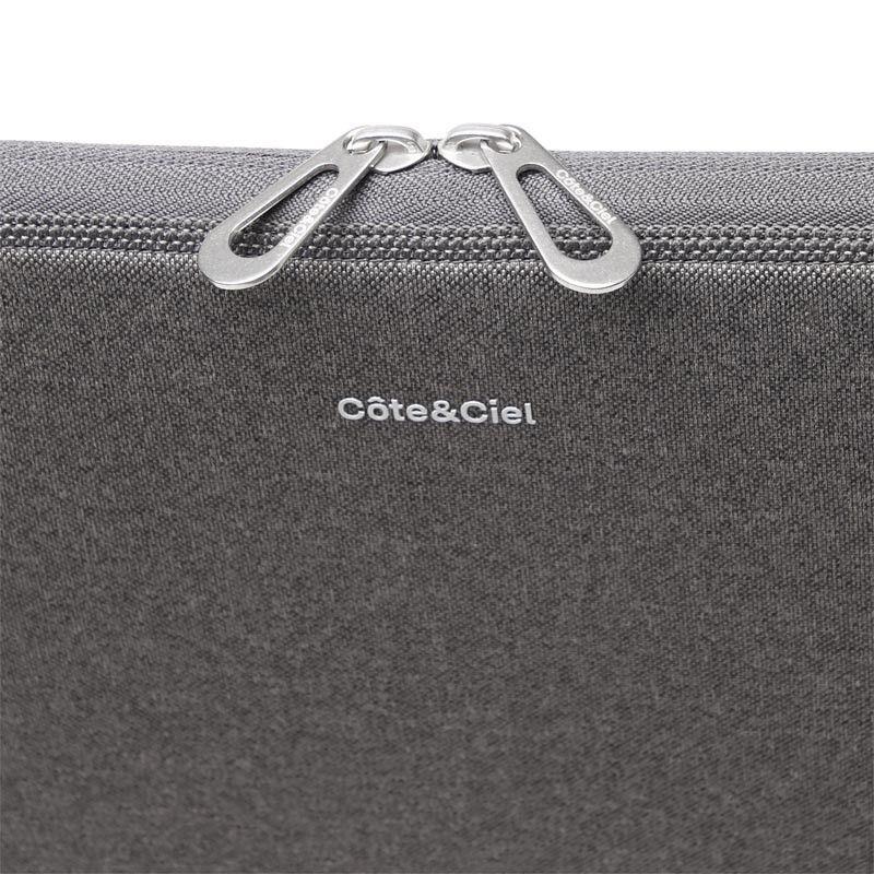 Pochette ordinateur zippée gris Cote & Ciel