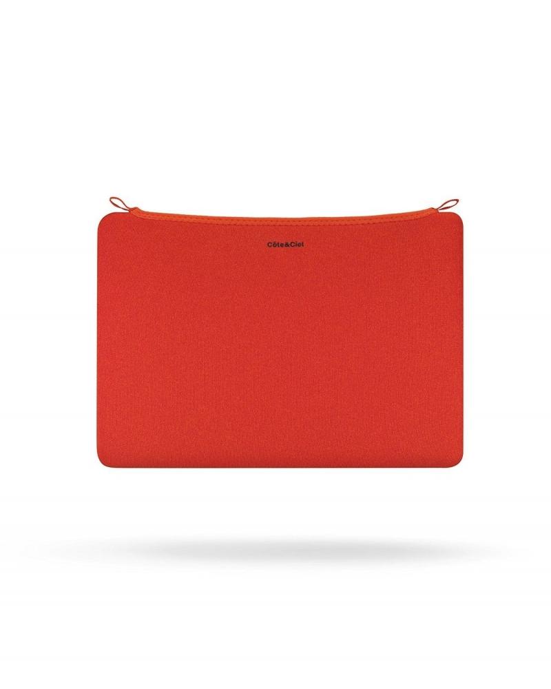 Pochette ordinateur orange Cote & Ciel