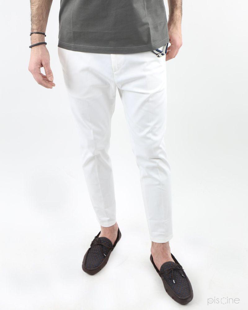 Pantalon blanc croisière Low Brand