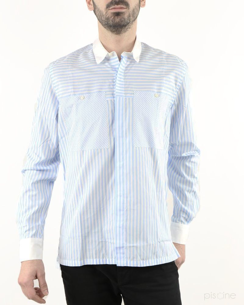 Chemise bleue multi-rayures Low Brand