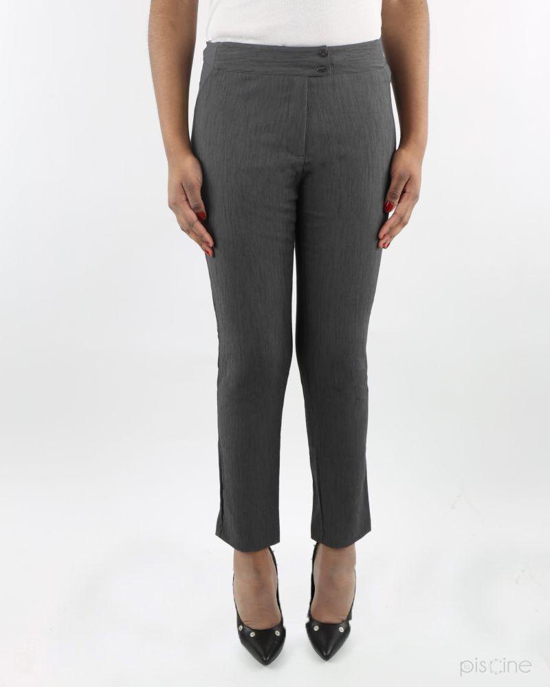 Pantalon taupe texturé She's So