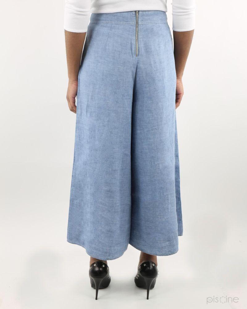 Pantalon large bleu She's So