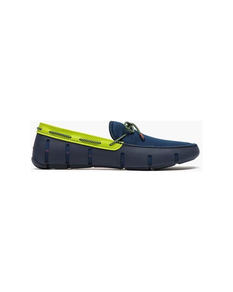 Chaussures bateau bleues et vertes Swims