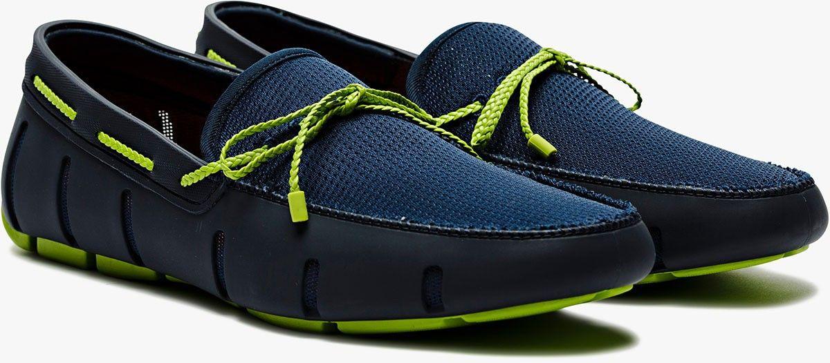 Mocassin bleu et vert Swims