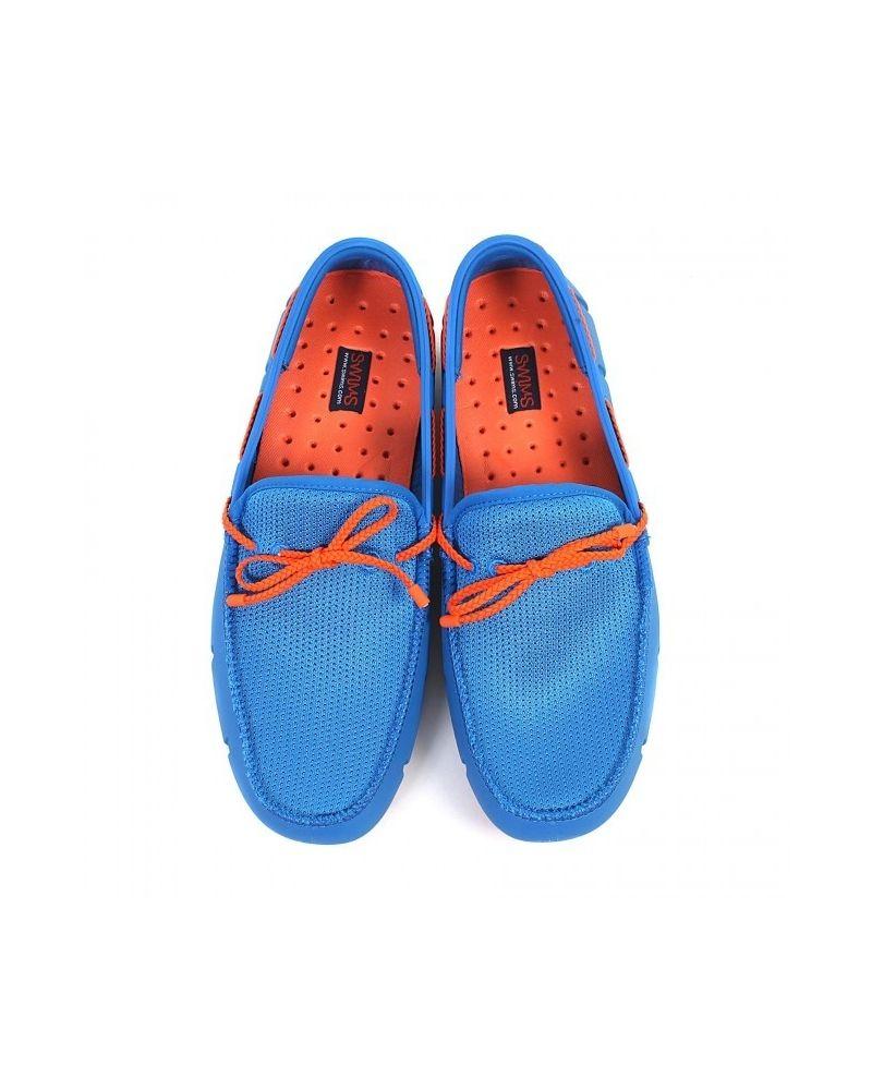 Chaussure bateau bleues et oranges Swims