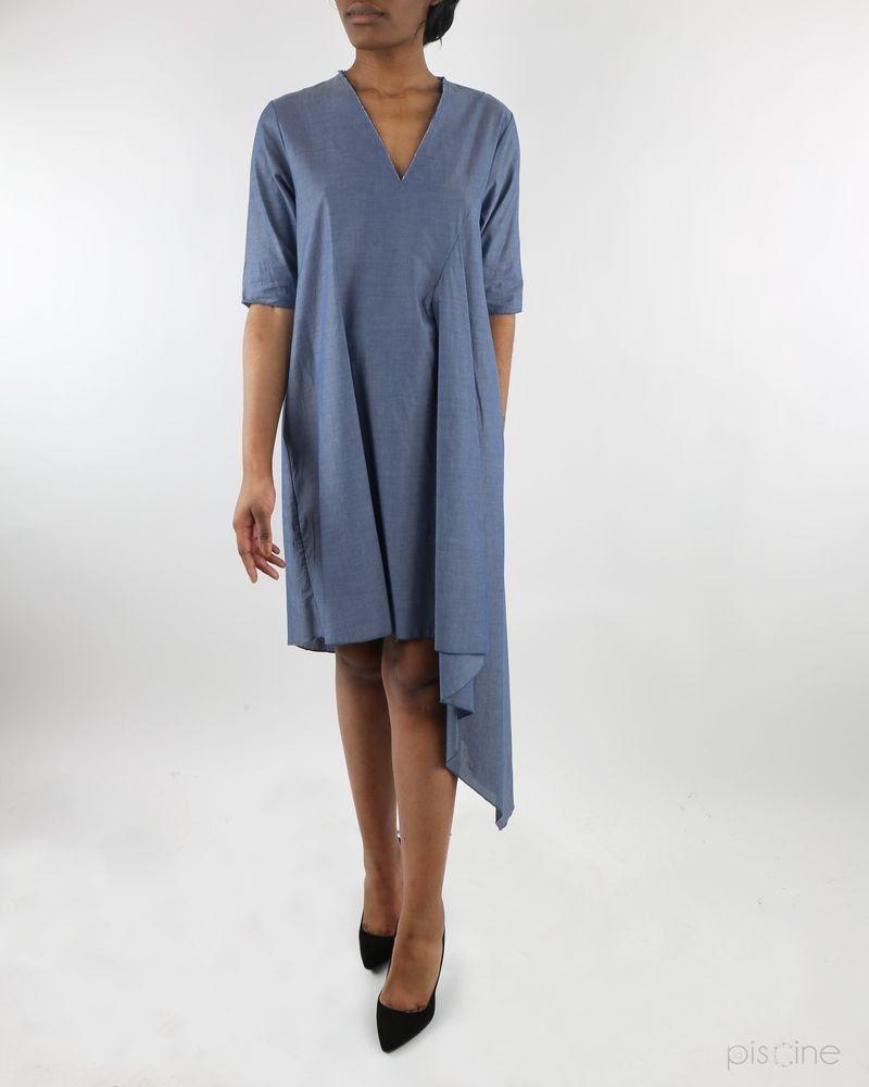 Robe bleue asymétique Jijil