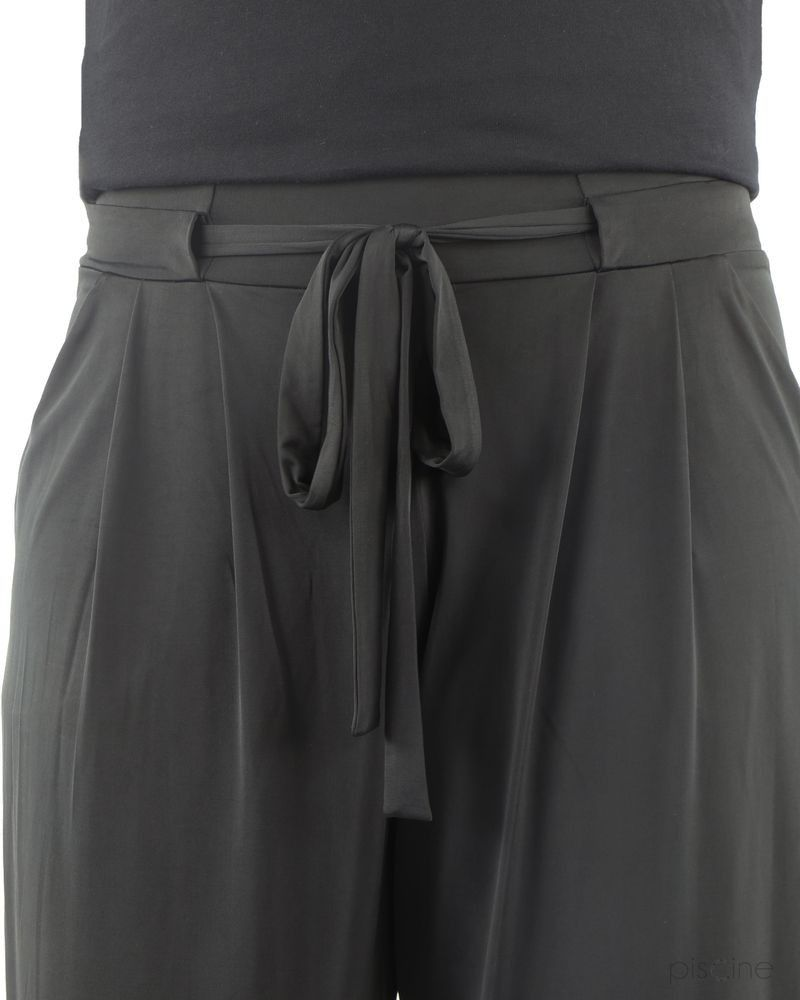 Pantalon fluide noir ceinturé Jijil