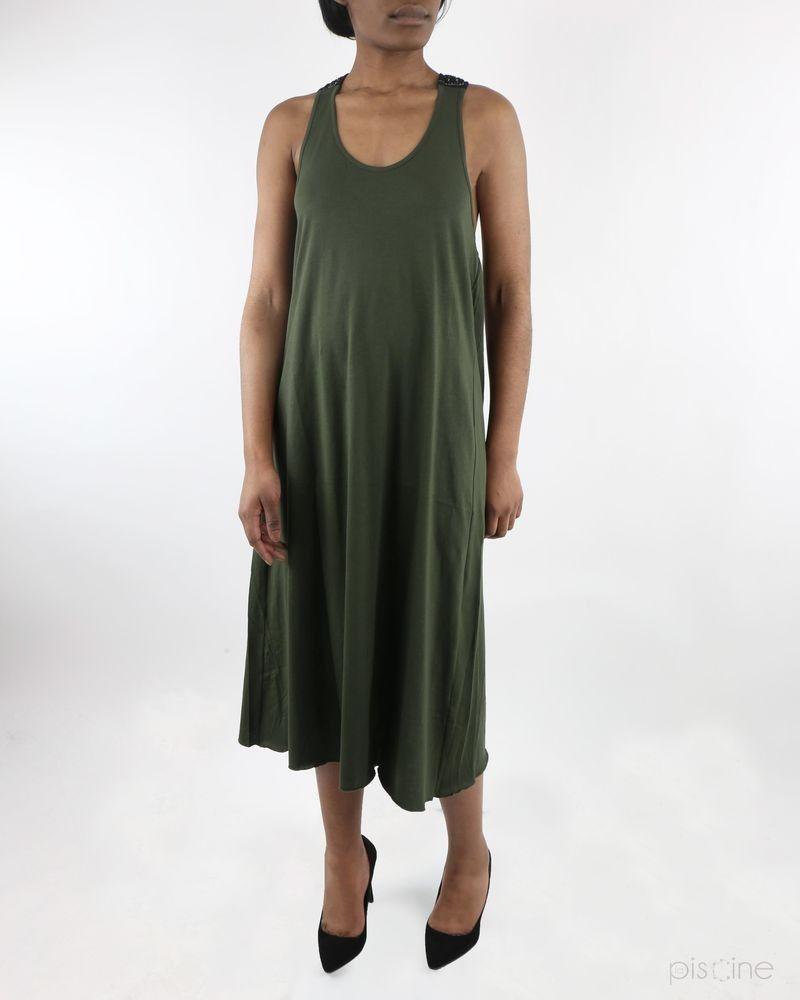 Robe débardeur dos nageur Kaki Jijil