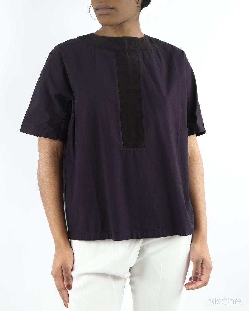 Top violet minimaliste Damir Doma