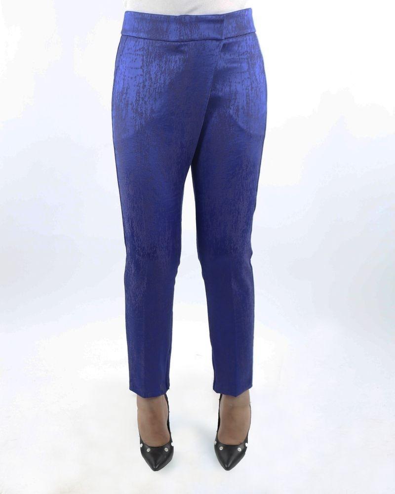 Pantalon bleu fermeture asymétrique Damir Doma