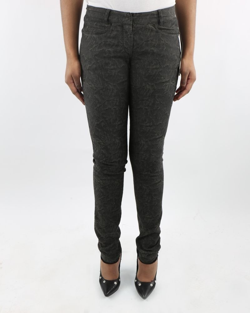 Pantalon slim gris taupé texturé Damir Doma