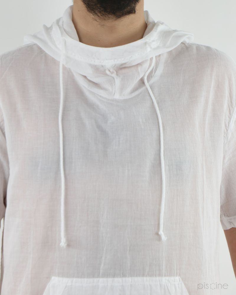 T-Shirt à capuche blanc Lost & Found