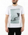 "T-Shirt blanc ""Greyhound"" Trussardi"