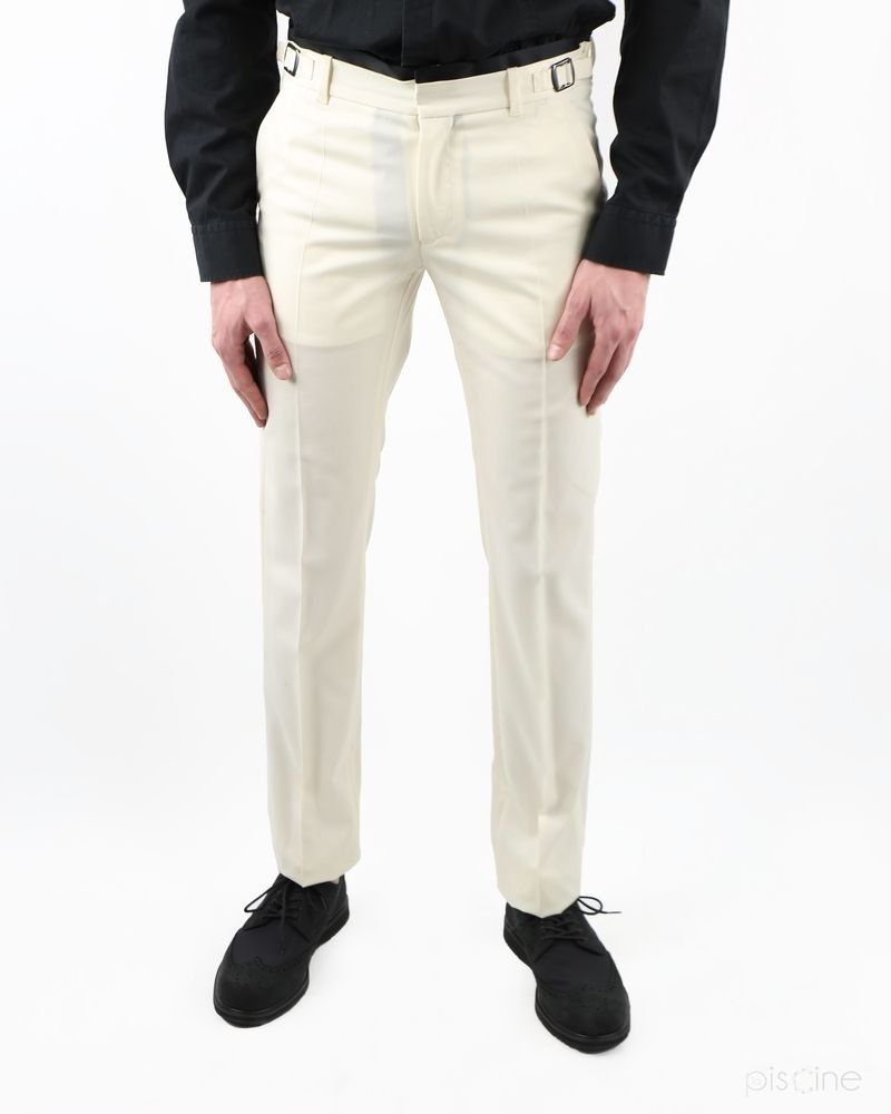 Pantalon beige en laine fine Lords & Fools