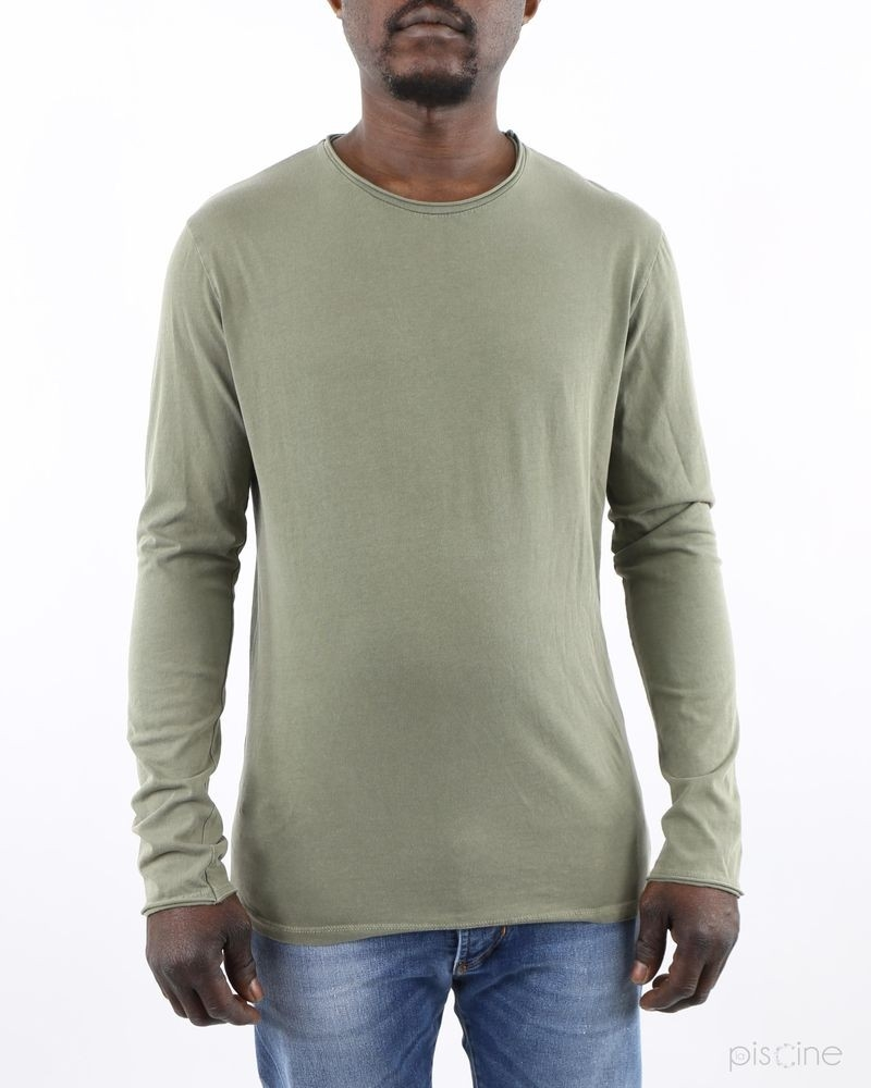 T-Shirt kaki manches longues Woolgroup