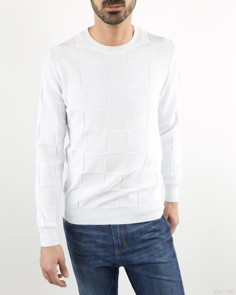 Pull blanc Panicale