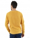 Pull jaune col rond Melinda Gloss Homme