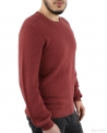 Pull rouge col rond Melinda Gloss Homme