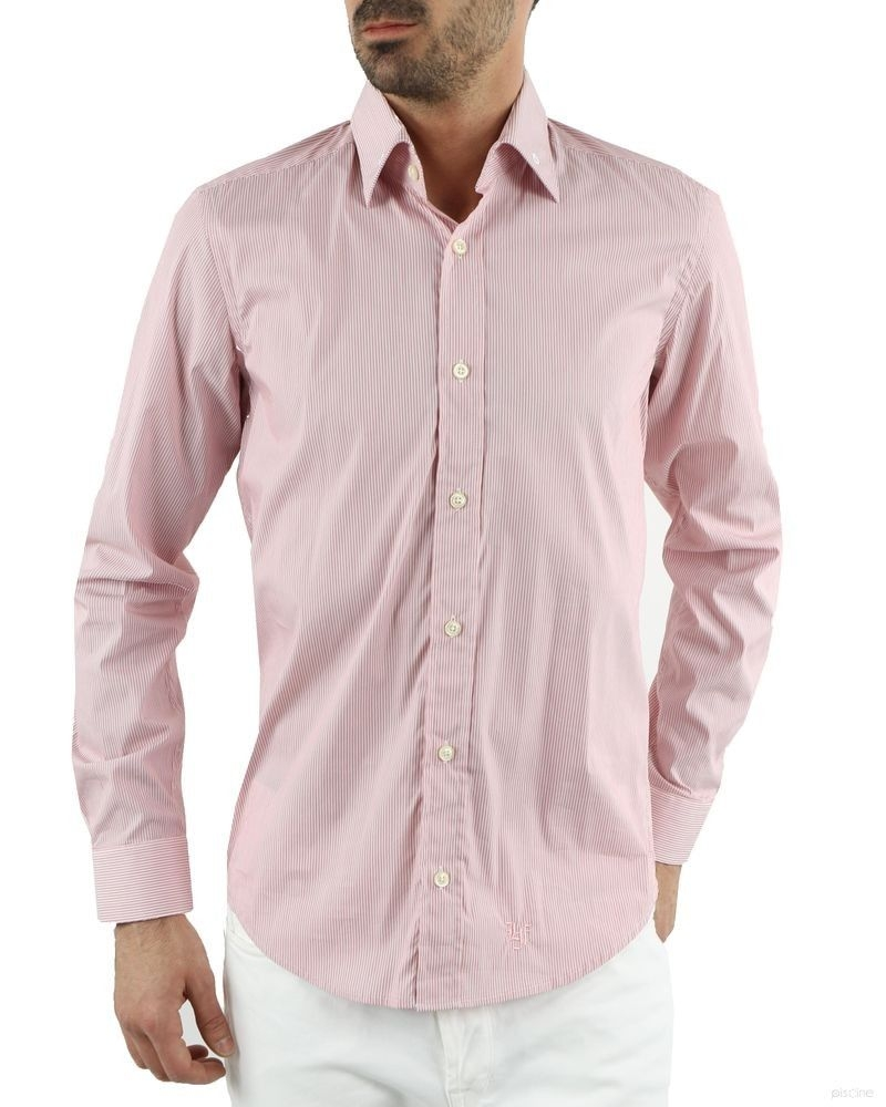 Chemise rose à rayures Lords & Fools