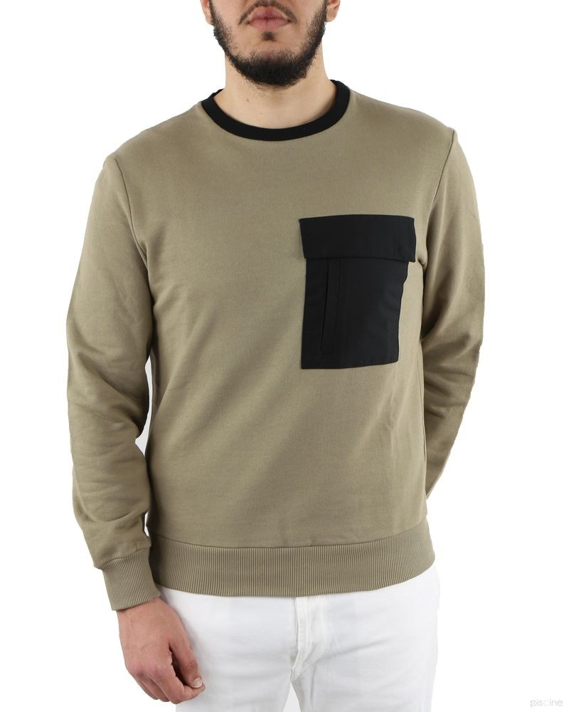 Sweat beige à poche contrastante Low Brand