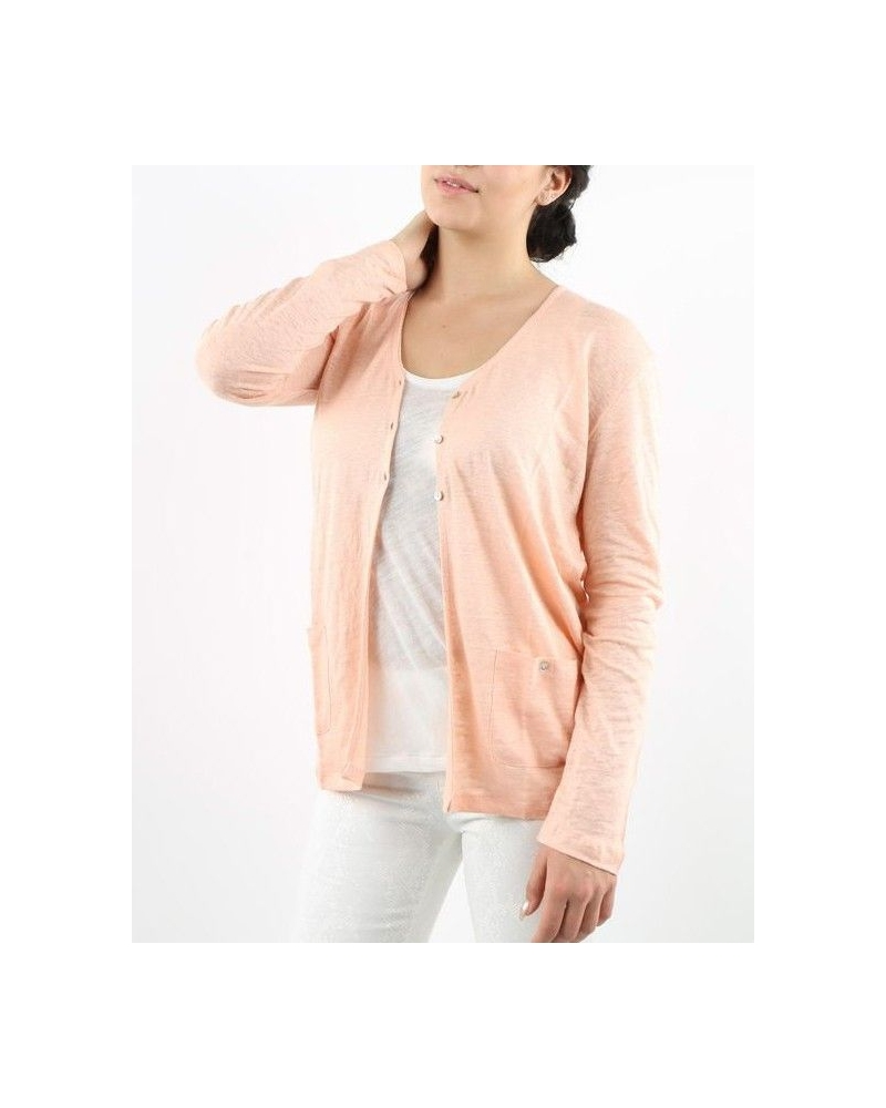 Gilet rose en lin May June