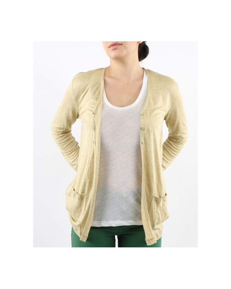 Gilet beige en lin May June