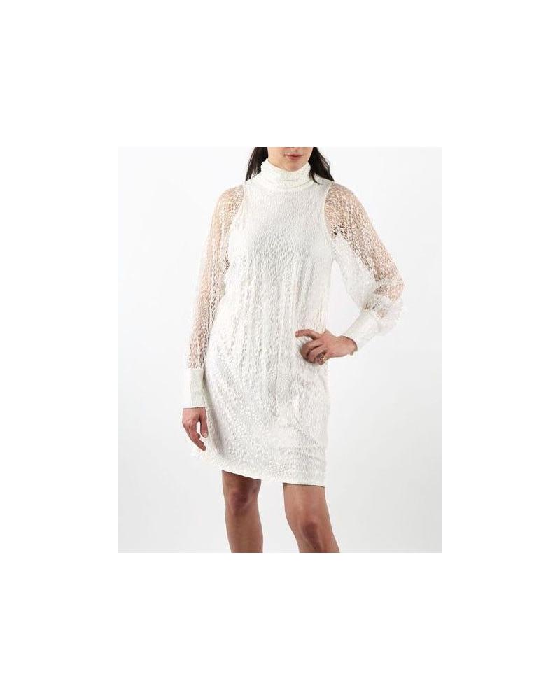 Robe blanche en dentelle Valentina Vox