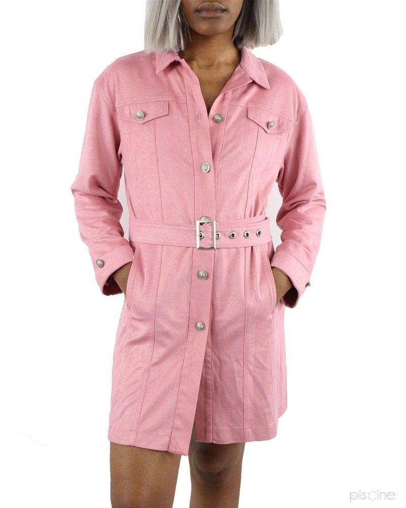 Robe rose effet denim Dexters