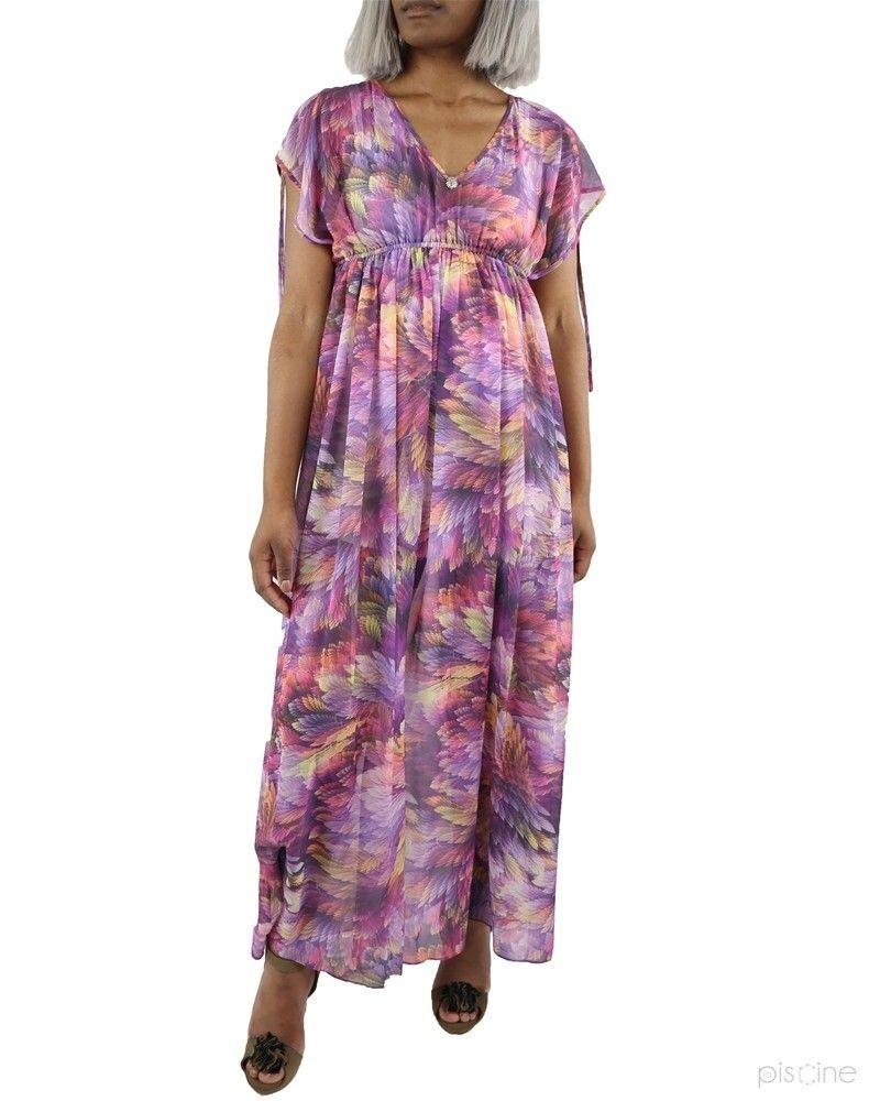 Robe longue violet Dexters